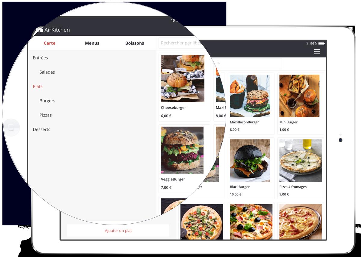 Crea tus productos,tus menus rapidamente con AirKitchen